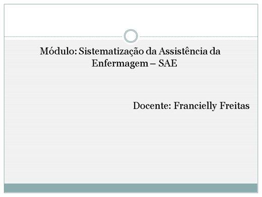 Curso Online de Sistematização da Assistência de Enfermagem