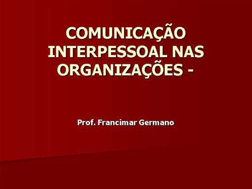 Curso Online de O PAPEL DA COMUNICAÇÃO NA ORGANIZAÇÃO