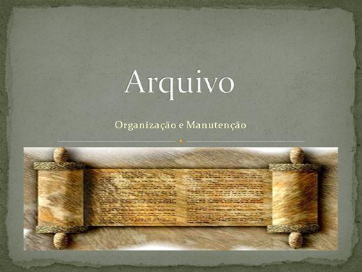 Curso Online de ARQUIVO- ORGANIZAÇÃO E MANUTENÇÃO