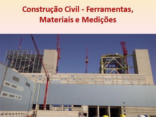 Curso Online de Construção Civil- Ferramentas, Medições e Materiais de Construção