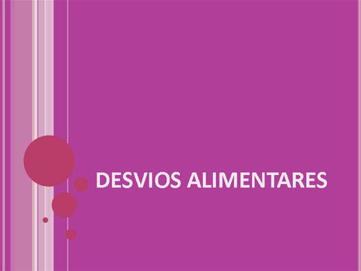 Curso Online de DESVIOS ALIMENTARES