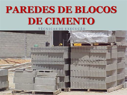 Curso Online de PAREDES DE BLOCOS DE CIMENTO