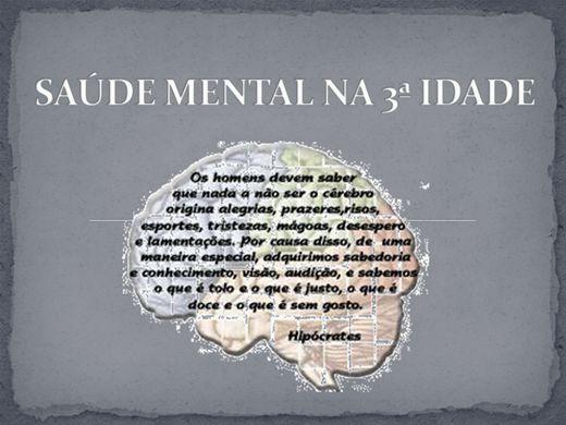 Curso Online de SAÚDE MENTAL NA 3ª IDADE