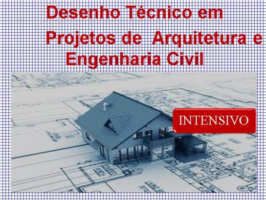 Curso Online de CURSO INTENSIVO DE DESENHO TÉCNICO EM PROJETOS DE ARQUITETURA E ENGENHARIA CIVIL