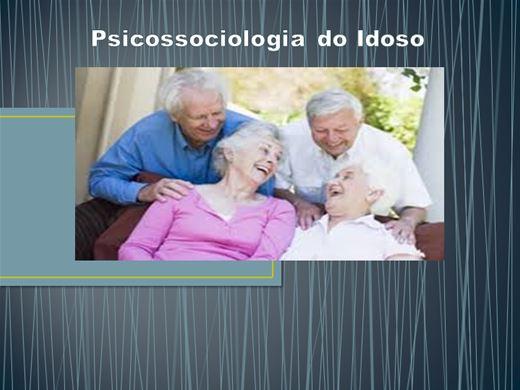 Curso Online de Psicossociologia do Idoso