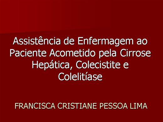 Curso Online de ASSISTÊNCIA DE ENFERMAGEM AO PACIENTE ACOMETIDO PELA CIRROSE HEPÁTICA, COLECISTITE E COLELITÍASE