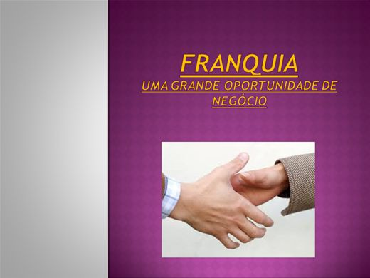 Curso Online de FRANQUIA: Uma Grande Oportunidade de Negócio