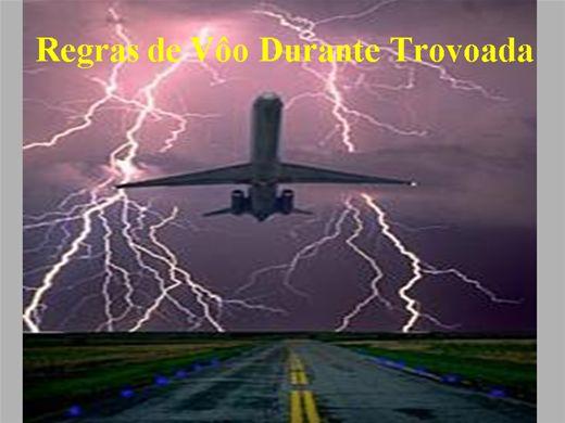 Curso Online de Regras de voo durante Trovoada