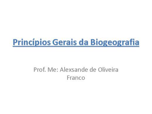 Curso Online de Biogeografia Geral