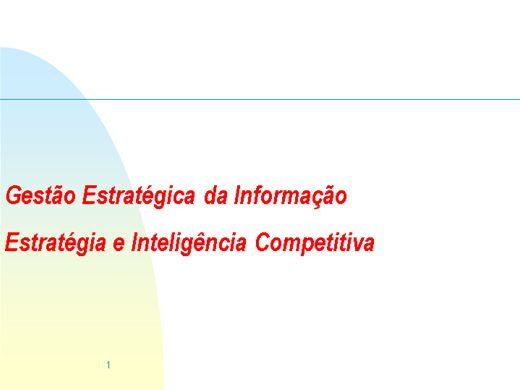 Curso Online de Gestão Estratégica da Informação