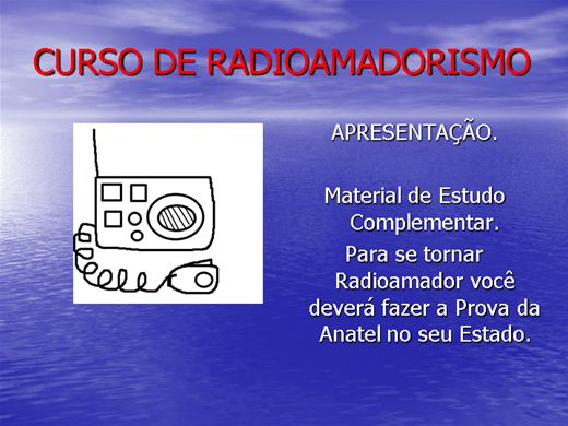 Curso Online de Curso de Radioamadorismo