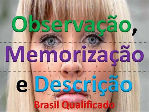 Curso Online de Observação, Memorização e Descrição