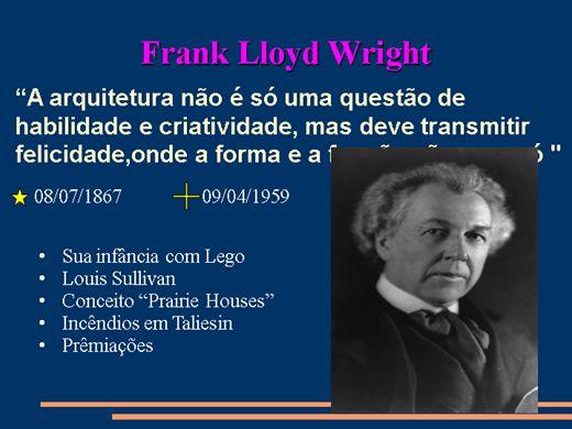 Curso Online de Frank LLoyd Wright