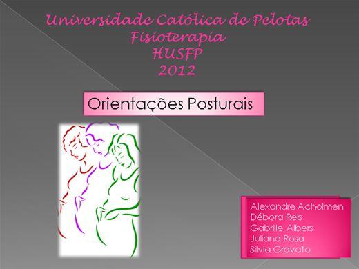 Curso Online de ORIENTAÇÕES POSTURAIS PARA GESTANTES