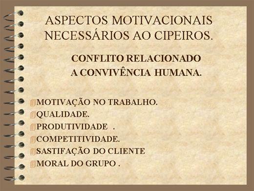 Curso Online de Aspectos Motivacionais Necessários ao CIPEIRO