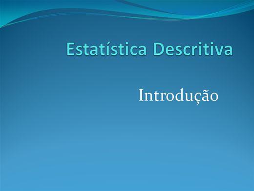 Curso Online de Estatística Descritiva - Introdução