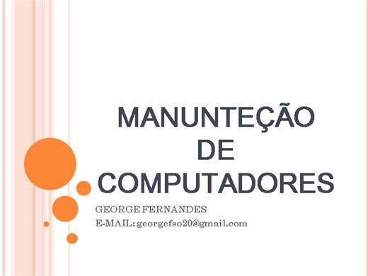 Curso Online de MANUNTENÇÃO DE COMPUTADORES