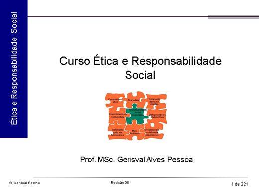 Curso Online de Ética e Responsabilidade Social