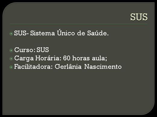 Curso Online de SUS