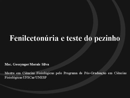 Curso Online de Fenilcetonúria e teste do pezinho
