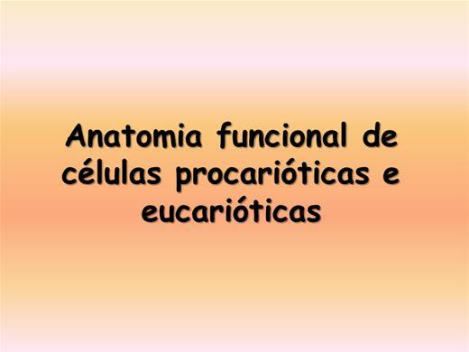 Curso Online de Aula de células procarióticas e eucarióticas