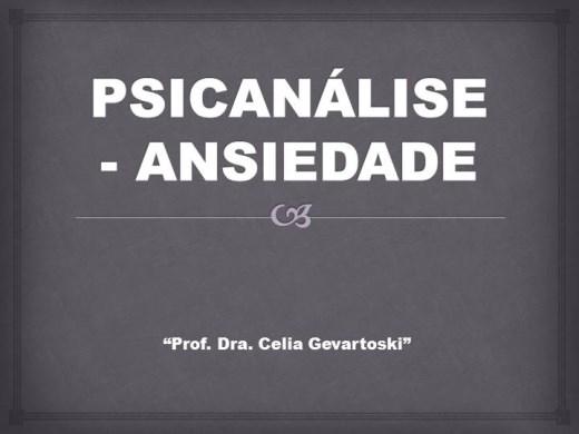 Curso Online de PSICANÁLISE - ANSIEDADE