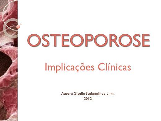 Curso Online de Osteoporose e suas Implicações Clínicas