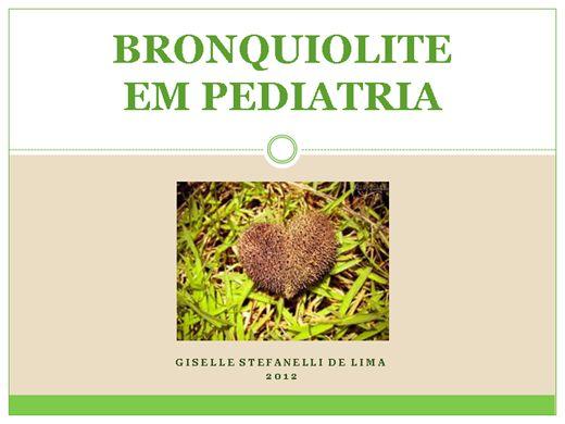 Curso Online de Bronquiolite em Pediatria