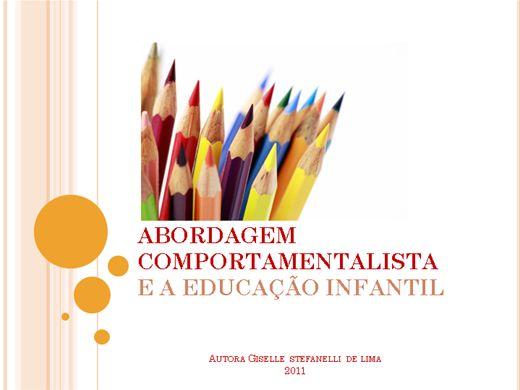 Curso Online de Behaviorismo Radical e a Educação Infantil