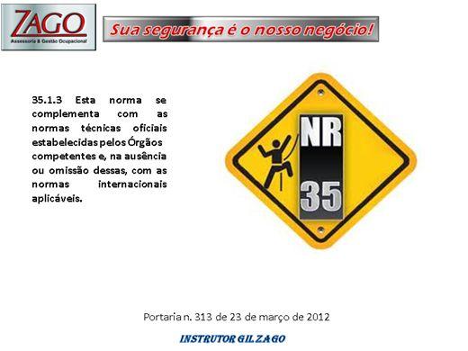 Curso Online de CAPACITAÇÃO PARA TRABALHOS EM ALTURA (NR-35)