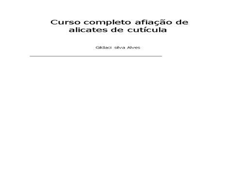 Curso Online de curso de afiação de alicate de cuticula