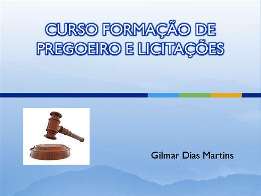 Curso Online de FORMAÇÃO DE PREGOEIRO E LICITAÇÕES