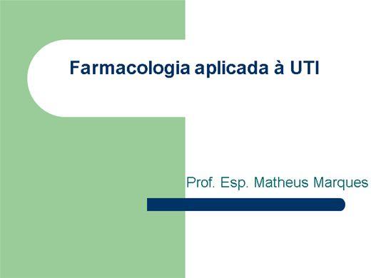Curso Online de CURSO DE FARMACOLOGIA APLICADA