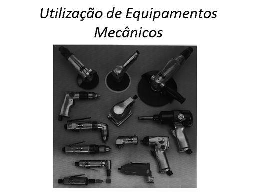 Curso Online de Utilização de Equipamentos Mecânicos