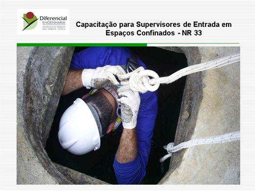Curso Online de NR 33 Para Supervisores de Entrada em Espaços Confinados