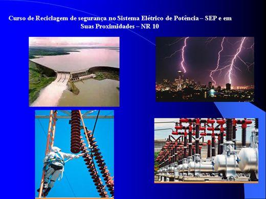 Curso Online de Reciclagem Curso Complementar - Segurança no sistema elétrico de potência (SEP) e em suas proximidades.