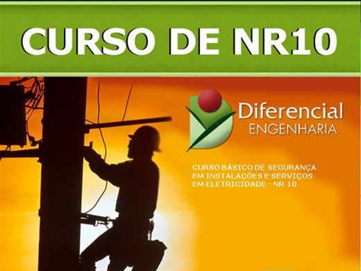 Curso obrigatório para profissionais da área de elétrica – Portaria 598/2004 do Ministério do Trabalho e Emprego.