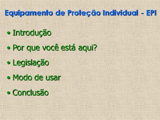 0d2a6f5f15fcf Curso Online de EQUIPAMENTO DE PROTEÇÃO INDIVIDUAL