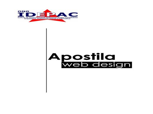 Curso Online de Apostila de Web Designer (CSS, HTML, Photoshop, Dreamweaver)
