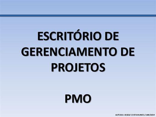 Curso Online de ESCRITÓRIO DE GERENCIAMENTO DE PROJETOS - PMO