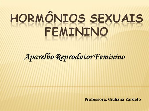 Curso Online de HORMÔNIOS SEXUAIS FEMININOS