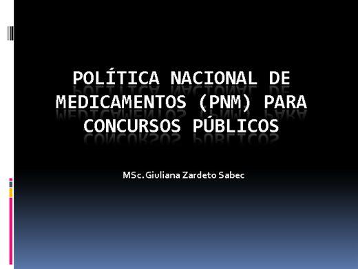 Curso Online de Política Nacional de Medicamentos (PNM) para Concurso Público