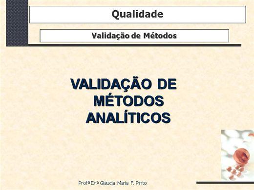 Curso Online de Validação de Métodos Analíticos