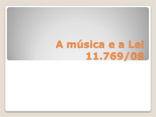 Curso Online de A música e a lei 11.769/08