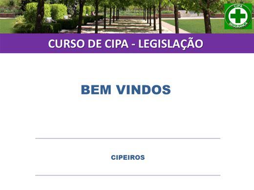 Curso Online de  CIPA - LEGISLAÇÃO