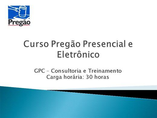 Curso Online de Pregão Presencial e Eletrônico