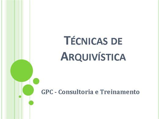 Curso Online de Técnicas de Arquivística
