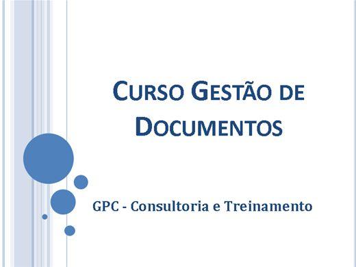 Curso Online de Curso de Gestão de Documentos