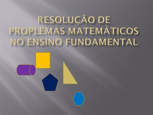 Curso Online de Resolução de Problemas Matemáticos no Ensino Fundamental