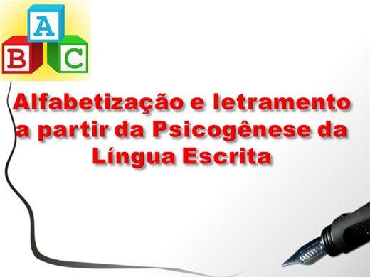 Curso Online de Alfabetização e Letramento a partir da Psicogênese da Língua Escrita